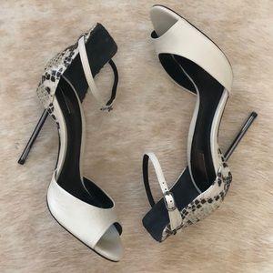 Schutz printed open toed heels